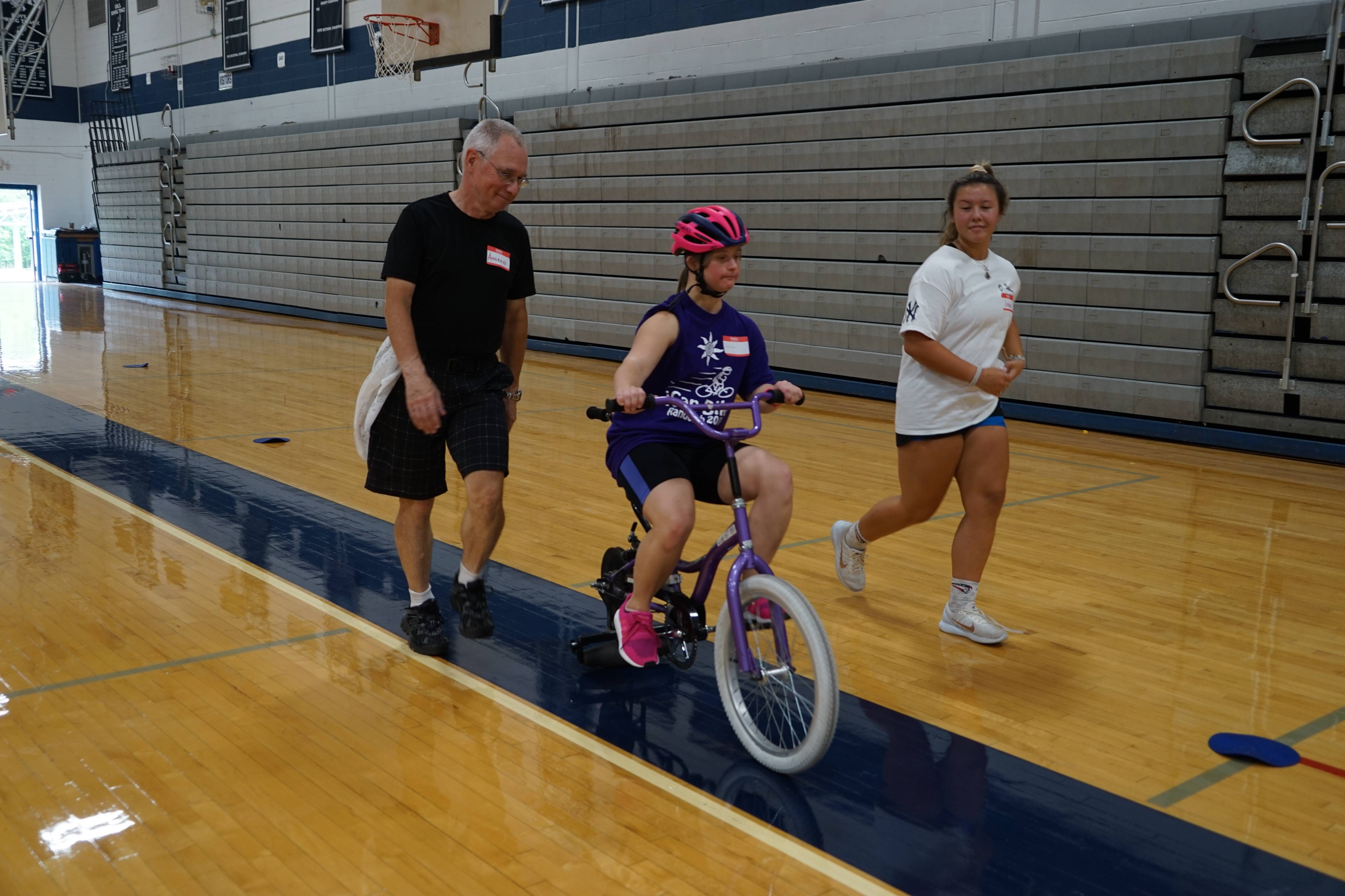 Randolph High School Comes To The Rescue; Hosts Bike Camp For  People With Disabilities