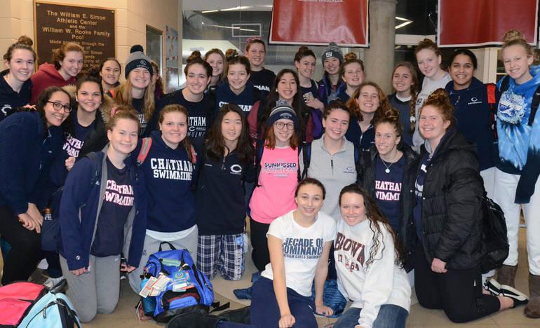 CHS Girls Swimming Defeats Morristown Beard