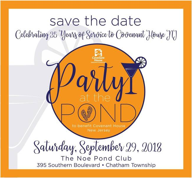 35th Annual Covenant House Benefit 'Party at the Pond' Hosted by The Morris Area Auxiliary Sept. 29