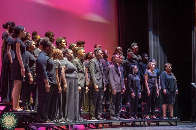 Cicely Tyson School of Performing and Fine Arts Choir Singing Lift Every Voice and Sing