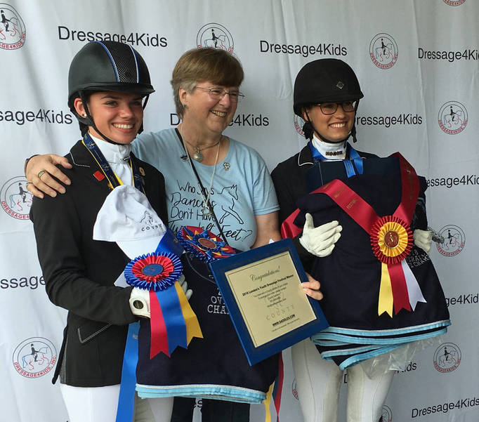 Champion Tessa Holloran and Reserve Champion Julia Houser LYDF 2018-2.JPG