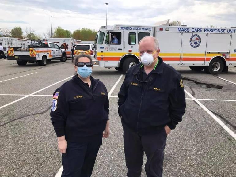 Scotch Plains Rescue Squad Chief Carolyn Sorge and President Dan Sullivan.jpg
