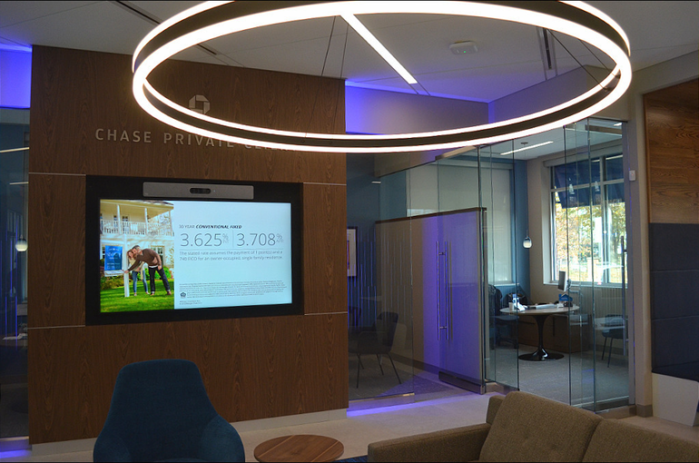 Modern design at Chase Bank in Scotch Plains.