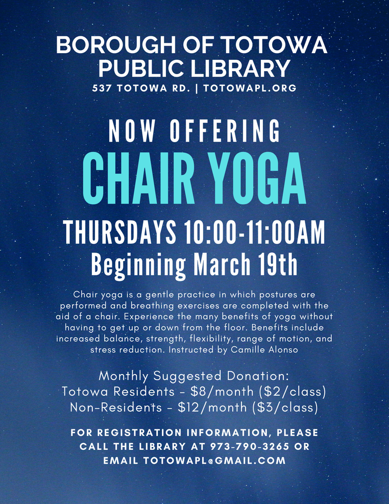 Chair Yoga at the Totowa Library