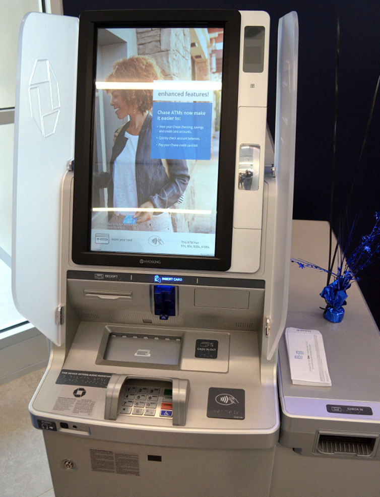 New ATMs at Chase Bank in Scotch Plains