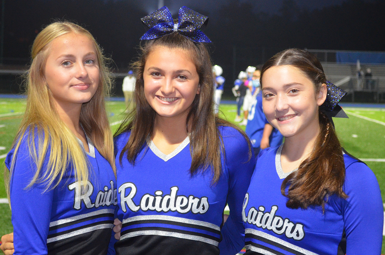 Cheerleaders at Scotch Plains-Fanwood's first Friday Night Lights game.