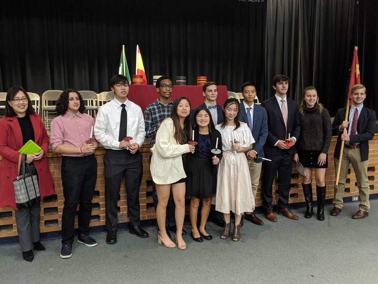 Scotch Plains-Fanwood High School Chinese Honor Society 2019 inductees.