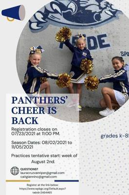 West Paterson Boys & Girls Club Fall Soccer, Cheerleading Now Registering