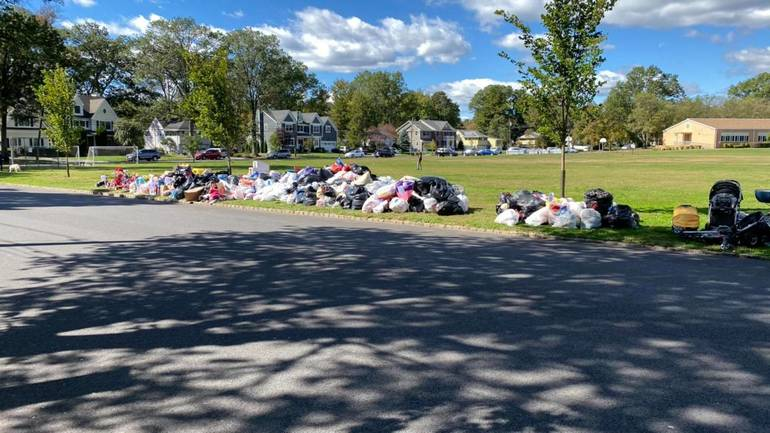 clothing drive at Jefferson Elementary School in Westfield