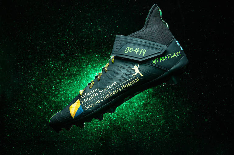 """Atlantic Health System's Goryeb Children's Hospital Takes the Field on Sunday with New York Jets QB Sam Darnold as Part of the NFL'S """"My Cause My Cleats"""" Campaign"""