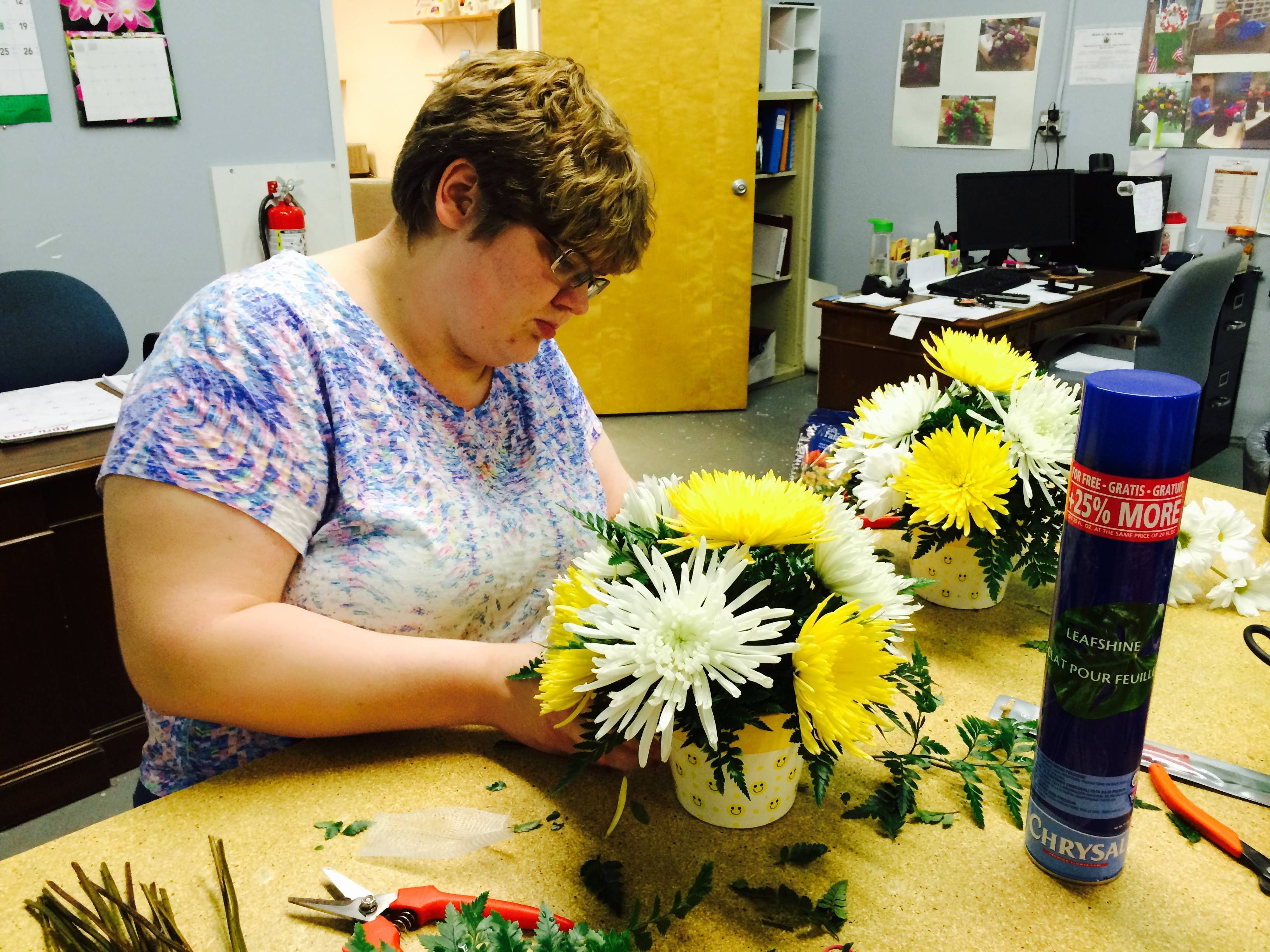 Autistic Students Create Beautiful Floral Arrangements for Community ...
