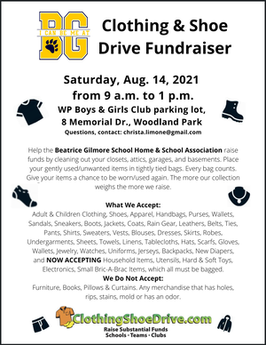Clothing Drive Will Raise Funds for Woodland Park Elementary School