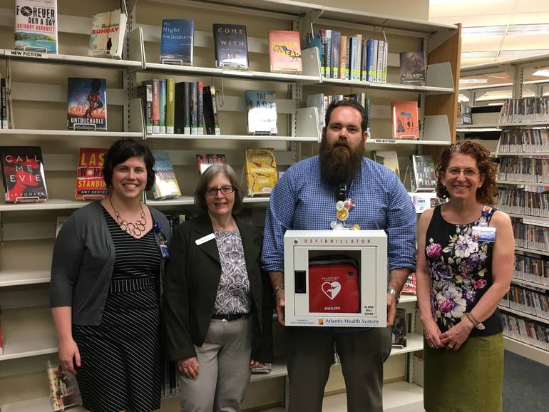 Chilton Medical Center Donates Automated External Defibrillator (AED) to Pequannock Township Library