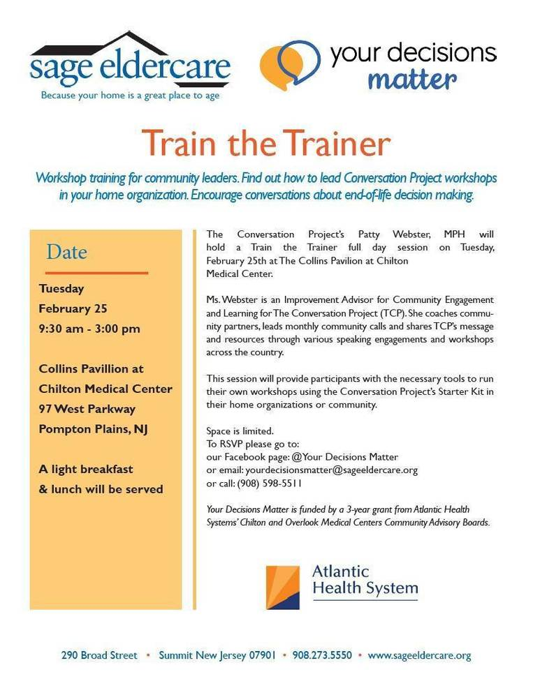 Train the Trainer Session