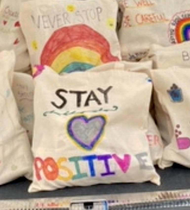 Glen Rock Hamilton School 5thGraders Donate 50 Bags of Food to Community Meals Inc.