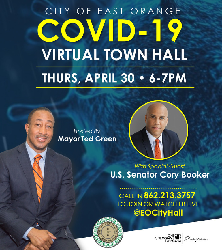 Cory Booker Guest on East Orange City Town Hall