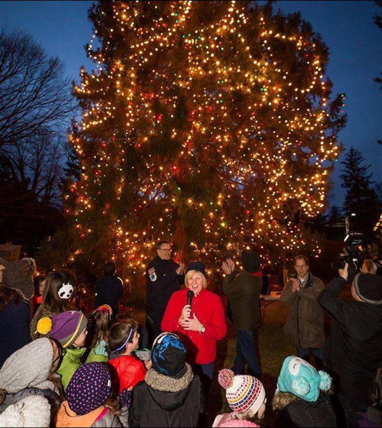 Colleen Mahr lights Christmas Tree.png