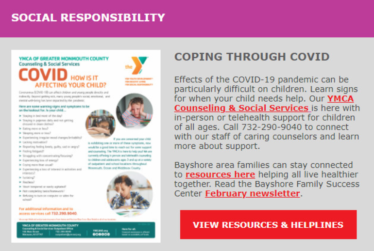 YMCA Offers Support for Children Effected by the COVID-19 Pandemic
