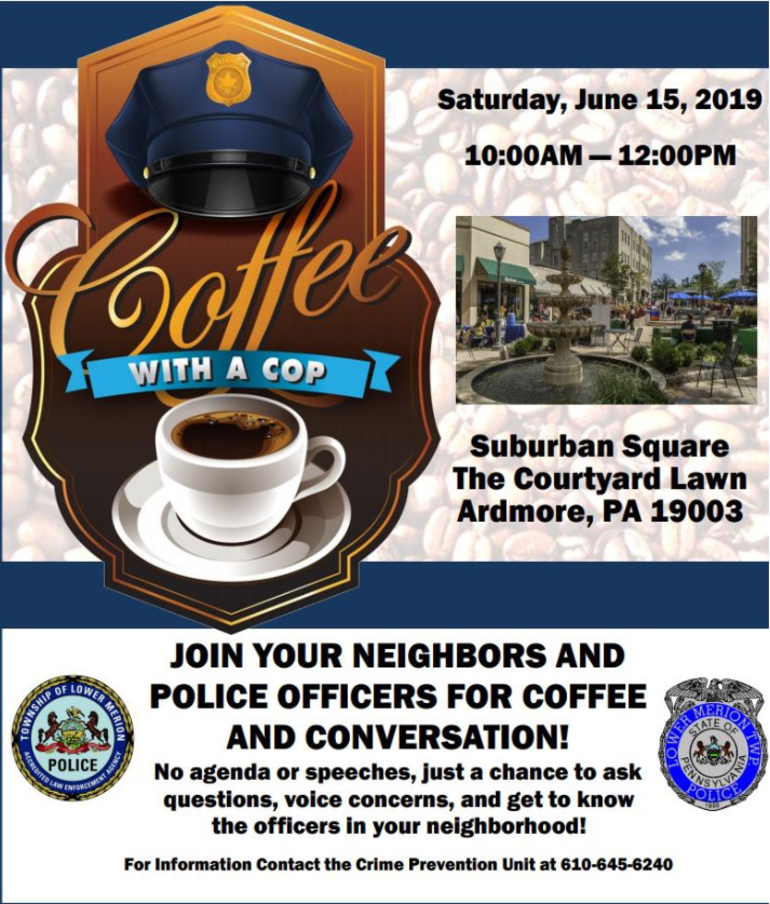 Lower Merion Police Coffee with a cop  Suburban Square 6-15-2019.PNG