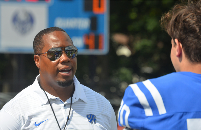 Scotch Plains-Fanwood football coach Austin Holman