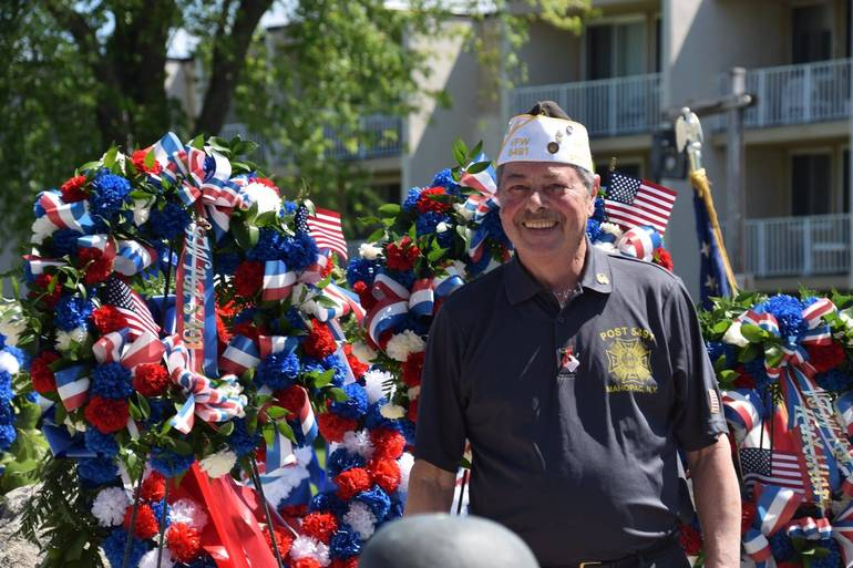 Commander presents wreath on behalf of VFW 5491 — with Ben Boccia i.jpg