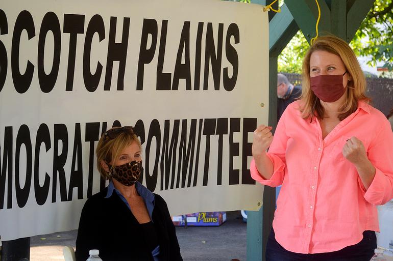 Scotch Plains Councilwoman Elizabeth Stamler rallies the troops.