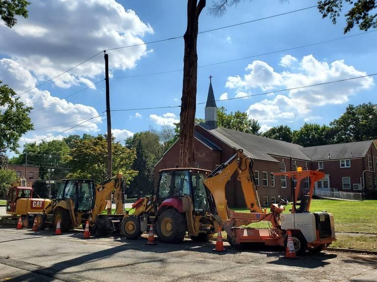 Construction trucks near High Street Fair Lawn.jpg