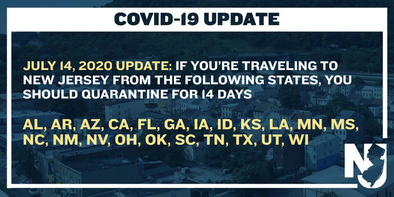 4 More States Added To New Jersey S Travel Advisory List Tapinto