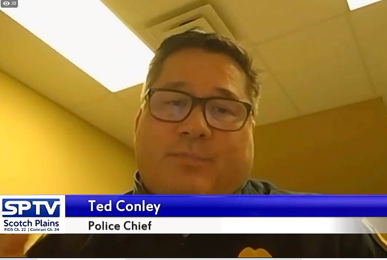 Scotch Plains Police Chief Ted Conley warned residents to lock their doors when they warm up their cars in the morning.