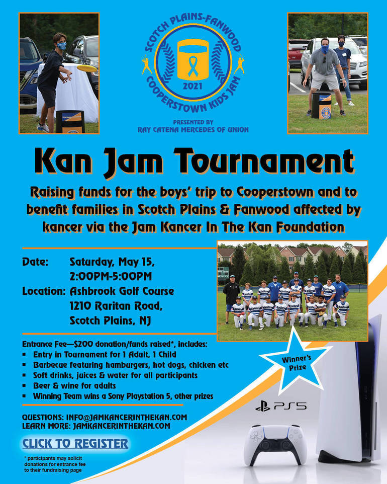 The Scotch Plains-Fanwood team who wins the Kids Jam event will receive the championship trophy and a brand new Sony Playstation 5!
