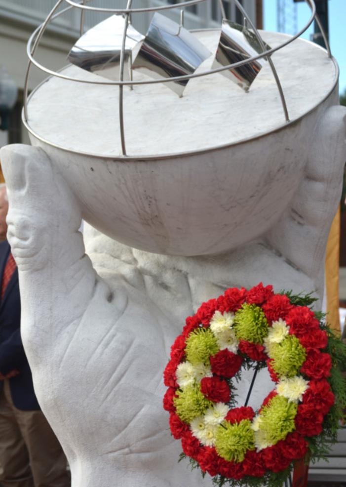 Christopher Columbus monument in downtown Scotch Plains.