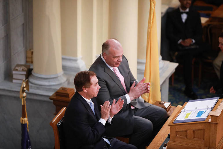 Assembly Speaker Craig Coughlin and Senate President Steve Sweeny