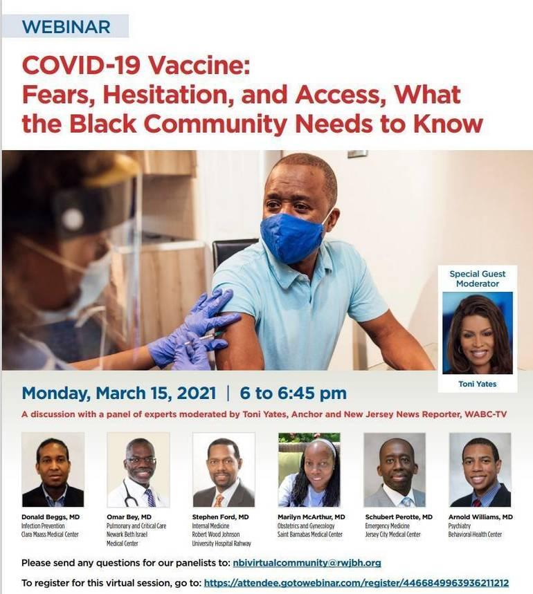 RWJ Barnabas Health to Host COVID-19 Webinar