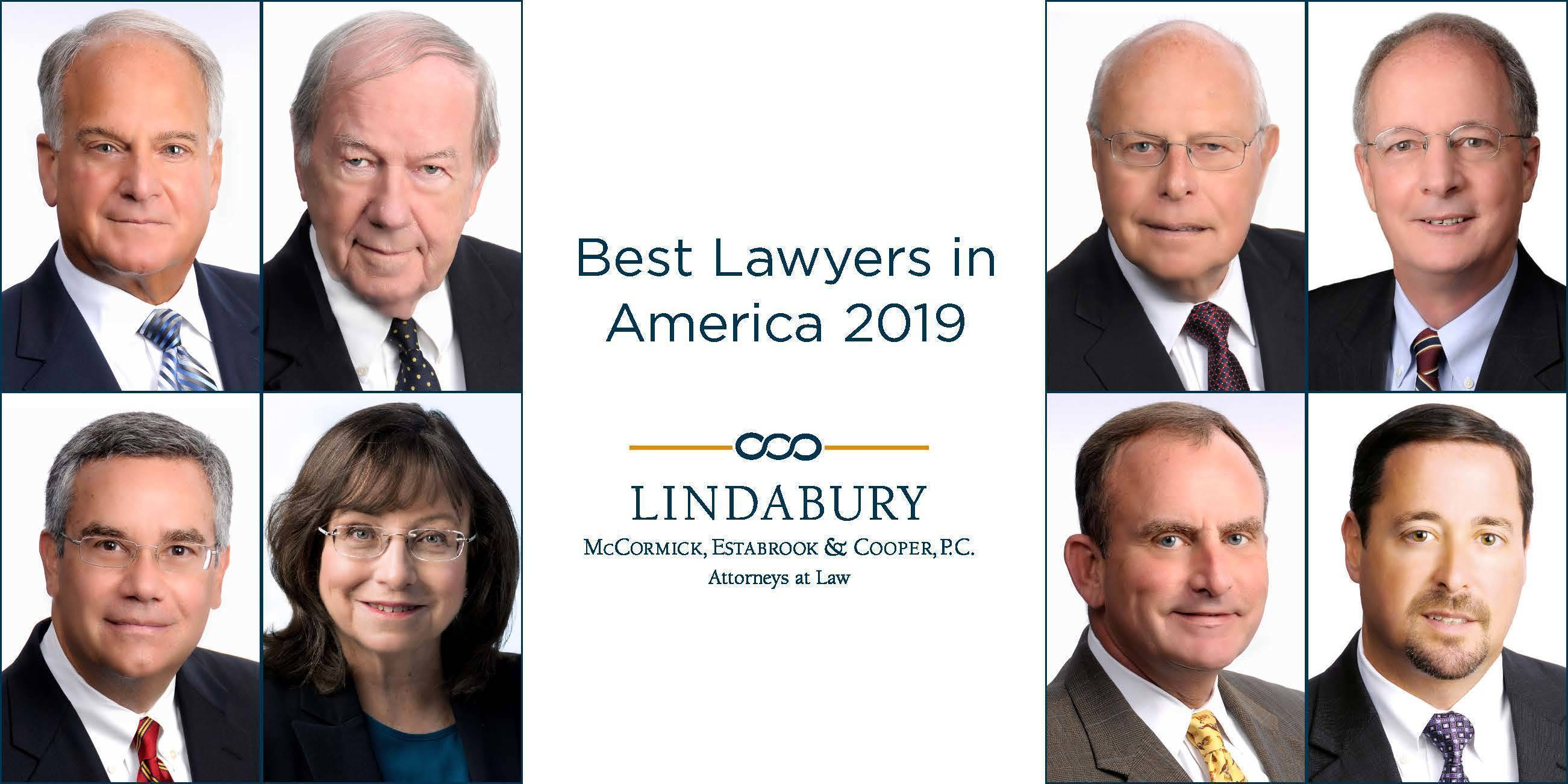 8 Lindabury, McCormick, Estabrook & Cooper, P.C. Attorneys Named to 2019 Best Lawyers List