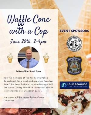Waffle Cone with a Kenilworth Cop