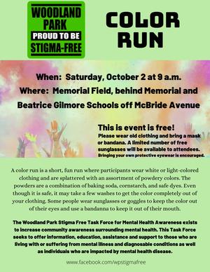 Woodland Park Stigma Free Task Force Plans Color Run