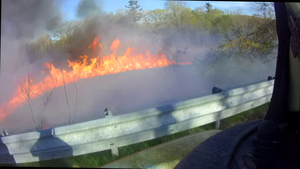Berkeley Heights Volunteer Fire Department Responds to Brush Fire on Connell Drive