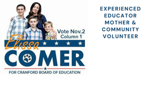 Elissa Comer for Cranford Board of Education