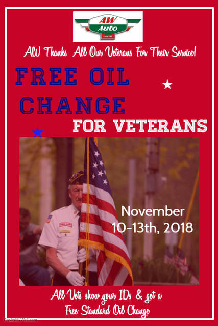 you a veteran then get your free oil change tapinto