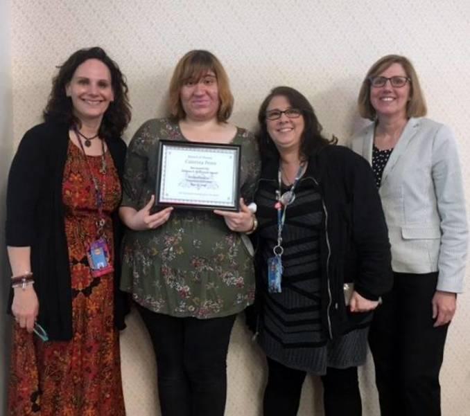 New Jersey Transition Coordinators Network Awards Caterina Perez with the Rebecca S. Mc Donald Award
