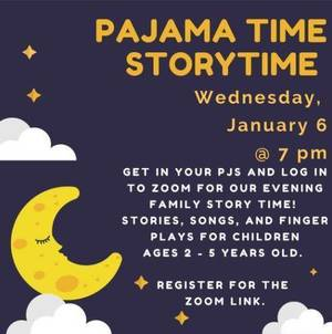 It's Pajama Time: Join the Clark Library for Story Time on Wednesday Evening