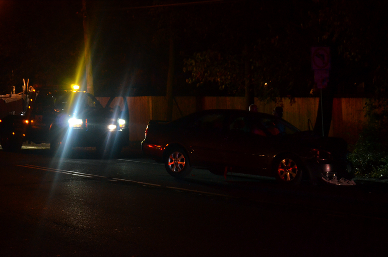 Crash7 - Despite damage to the vehicle, driver and passenger walk away from the accident on Martine Ave..png
