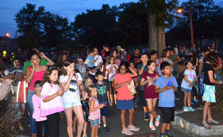Crowd at Fanwood's National Night Out.png