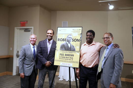 Top story 9ed6f556e0e96da09516 crossroads event   mayor cahill nate stampley  paul robeson  marshall jones crossroads artistic director anthony carter crossroads board president