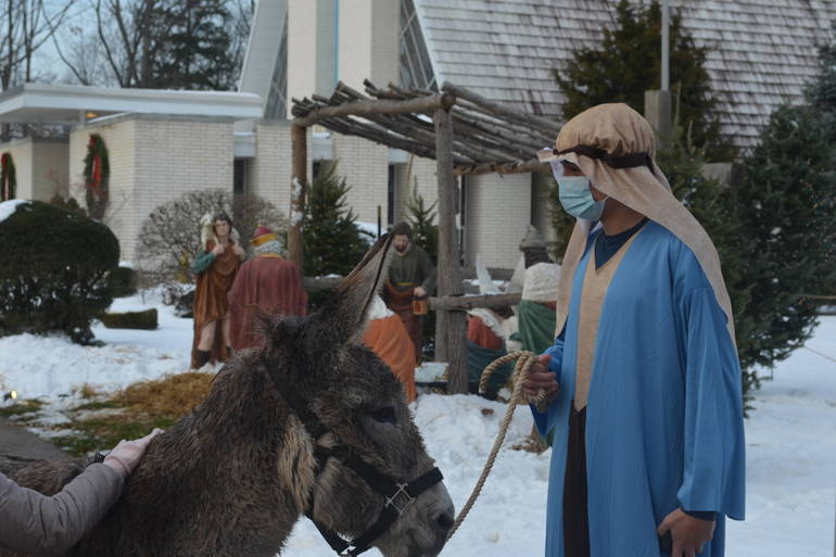 Live Nativity presentation at IHM in Scotch Plains.