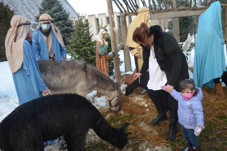 Live Nativity scene at IHM in Scotch Plains.