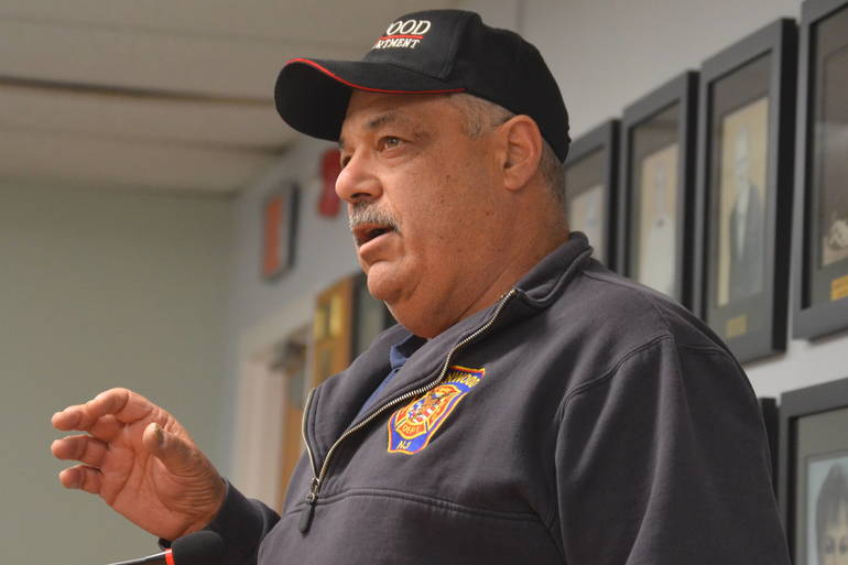 Fanwood Fire Chief John Piccola at the Fanwood Borough Council meeting on Monday, March 16