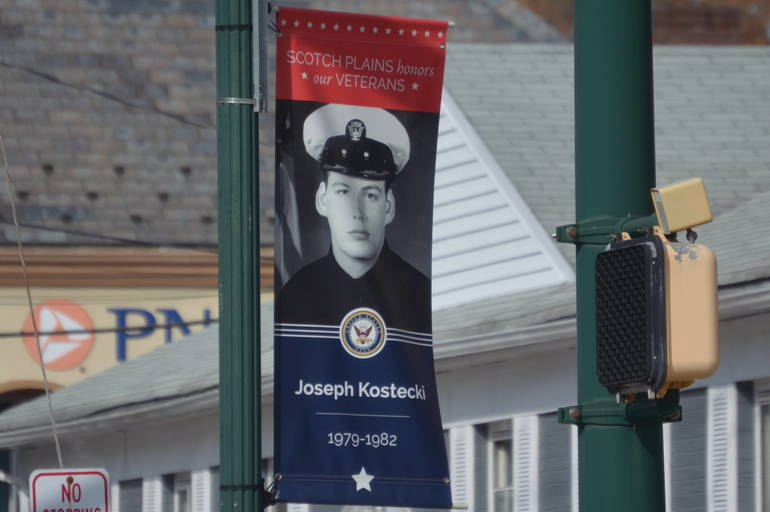 Hometown Heroes banner in Scotch Plains.