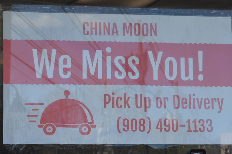 Welcome sign at China Moon in Fanwood.