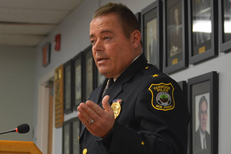 Fanwood Police Chief Richard Trigo at the Fanwood Borough Council meeting on Monday, March 16